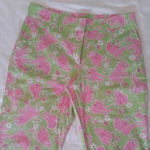 90s Lilly Pulitzer 'Toast of the Town' Capris